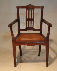 A 19th Cape Patrician Teak Armchair