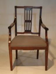A rare Cape Patrician Neo-Classical Chair with upholstered seat