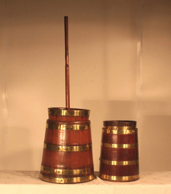 Teak butter churns